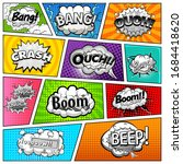 comic book page divided by...   Shutterstock .eps vector #1684418620