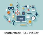 flat design vector illustration ... | Shutterstock .eps vector #168445829