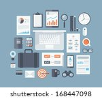 modern design flat icon vector... | Shutterstock .eps vector #168447098
