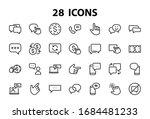 simple set of message line... | Shutterstock .eps vector #1684481233