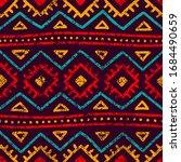 seamless tribal pattern. grunge ...   Shutterstock .eps vector #1684490659