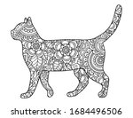 Cat Made A Floral Pattern With...