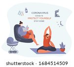 stay home during epidemic... | Shutterstock .eps vector #1684514509
