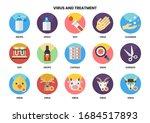 medical icons set for business  ... | Shutterstock .eps vector #1684517893