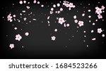 nice sakura blossom isolated... | Shutterstock .eps vector #1684523266