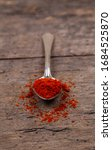 bright spices over wooden...   Shutterstock . vector #1684525870