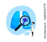 virus cells in lung. infected...   Shutterstock .eps vector #1684535779