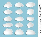 white speech bubbles or clouds... | Shutterstock .eps vector #168456293