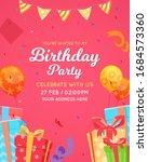 birthday invitation card...   Shutterstock .eps vector #1684573360