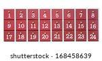 advent calendar made of wood...   Shutterstock . vector #168458639