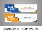 website banner template design...   Shutterstock .eps vector #1684599223