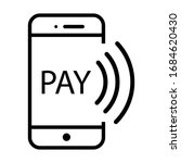 payment with smartphone icon ... | Shutterstock .eps vector #1684620430