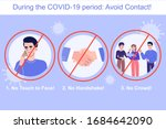 avoid contact during the covid... | Shutterstock .eps vector #1684642090