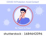 avoid contact during the covid... | Shutterstock .eps vector #1684642096