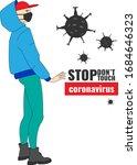 covid 19 illustration . safe... | Shutterstock .eps vector #1684646323