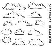 doodle cloud illustration hand... | Shutterstock .eps vector #1684661140