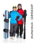 happy smiling attractive couple ...   Shutterstock . vector #168466169