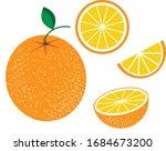 orange orange fruit slices... | Shutterstock .eps vector #1684673200