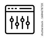 setting vector thin line icon