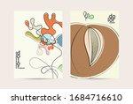 abstract vector flyer template... | Shutterstock .eps vector #1684716610