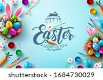 easter poster and banner... | Shutterstock .eps vector #1684730029