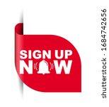 red vector illustration banner...   Shutterstock .eps vector #1684742656
