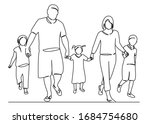 continuous single drawn one... | Shutterstock . vector #1684754680