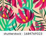 pink garden cute flower and... | Shutterstock .eps vector #1684769323