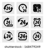 vector 24 hours symbols | Shutterstock .eps vector #168479249