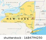 new york state  nys   political ... | Shutterstock .eps vector #1684794250