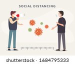 social distancing. space... | Shutterstock .eps vector #1684795333