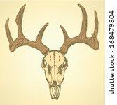 deer skull  vector sketch... | Shutterstock .eps vector #168479804