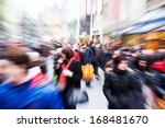 crowd of people in the shopping ... | Shutterstock . vector #168481670
