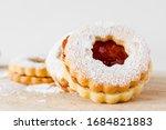 Three Homemade Linzer Cookies...