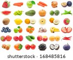 collection of various fruits... | Shutterstock . vector #168485816