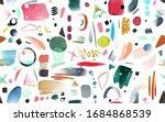 art seamless pattern with... | Shutterstock . vector #1684868539