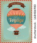vintage hot air balloon bon... | Shutterstock .eps vector #168486980