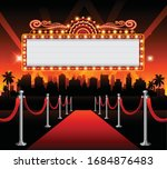 golden casino banner theater... | Shutterstock .eps vector #1684876483