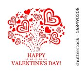 happy valentine's day ... | Shutterstock . vector #168490208