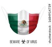medical mask with national flag ... | Shutterstock .eps vector #1684914739