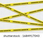 quarantine zone warning tape.... | Shutterstock .eps vector #1684917043