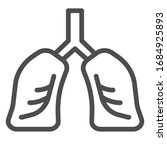lungs organ line and solid icon.... | Shutterstock .eps vector #1684925893