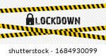 concept lockdown background due ... | Shutterstock .eps vector #1684930099