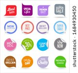 modern colorful sales badges... | Shutterstock . vector #1684930450