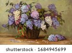 Beautiful Bouquet Of Lilacs In...