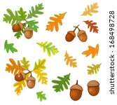 acorn with leaves | Shutterstock .eps vector #168498728