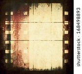 old blank film strip frame... | Shutterstock . vector #168498893