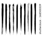 vector set of grunge brush... | Shutterstock .eps vector #168500339