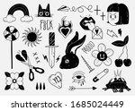old school tattoo elements.... | Shutterstock .eps vector #1685024449