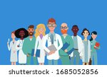 team of medical doctors are... | Shutterstock .eps vector #1685052856